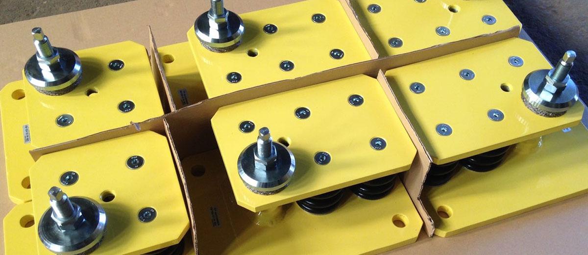 Suspensión antivibratoria para prensas y maquinaria en general
