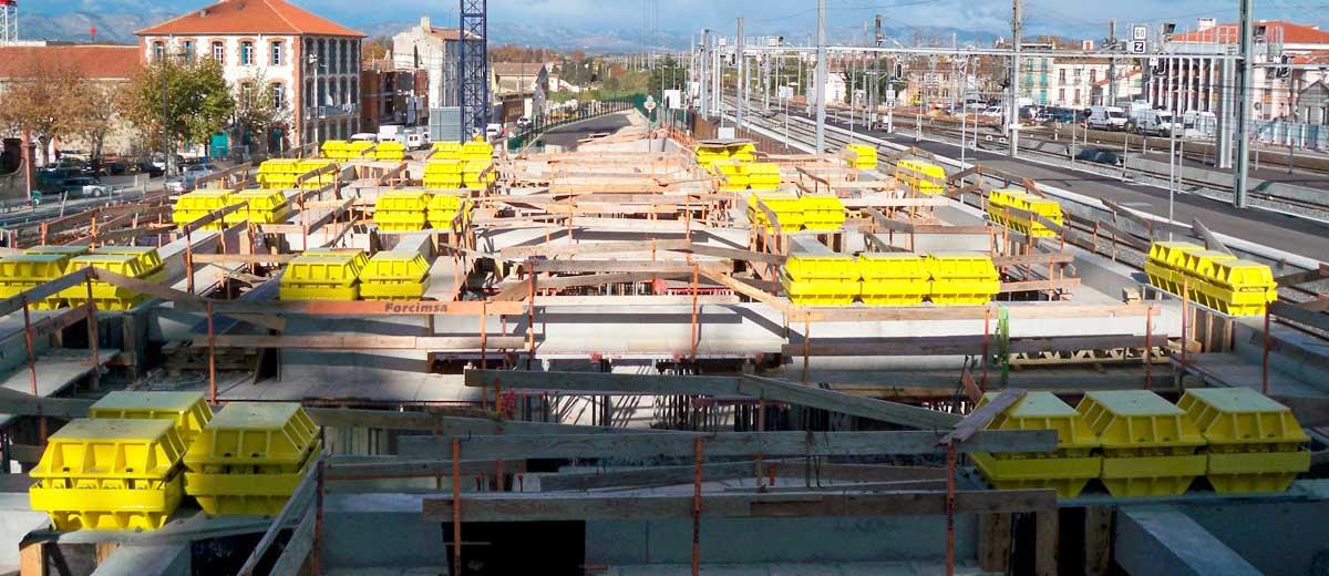 Suspensión Antivibratoria y Antisísmica de edificio Hotel Aglo 5* en Perpignan